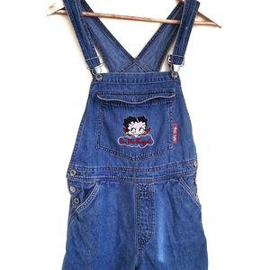 Retro Betty Boop Denim Overall shorts medium